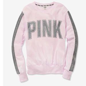 Pink Victoria secret Campus Crew pink bling med